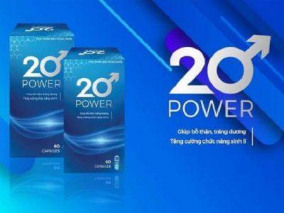 20 Power: Cách Dùng, Giá Bán 2020, Mua Chính Hãng Ở Đâu [CHI TIẾT A-Z]