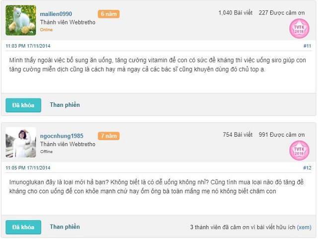 Imunoglukan review webtretho